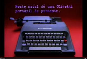 Propaganda de Natal da Olivetti (Foto: Reprodução/YouTube)