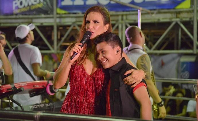 Ivete Sangalo e Roberto Matheus se reencontram Fortal. (Foto: Davi Magalhães / Divulgação)