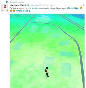 Matthieu Peche, da França, procura por Pokemons na Vila e não encontra nada (Foto: Reprodução/Twitter)