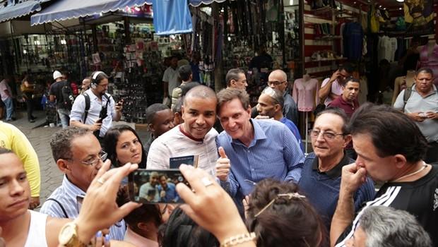 O candidato do PRB à Prefeitura do Rio de Janeiro, Marcelo Crivella, lidera as pesquisas (Foto: Reprodução/Facebook)