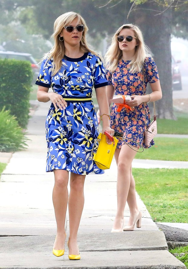 Reese Witherspoon e a filha, Ava Phillippe (Foto: AKM-GSI Brasil)