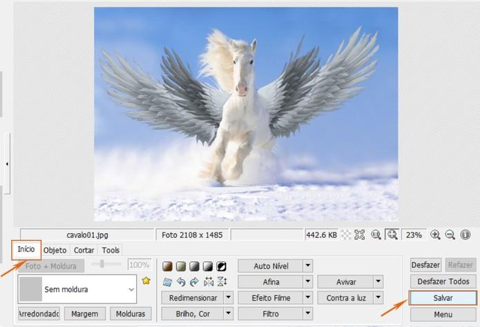 Salve o resultado da montagem feita no PhotoScape no computador (Foto: Reprodução/Barbara Mannara)