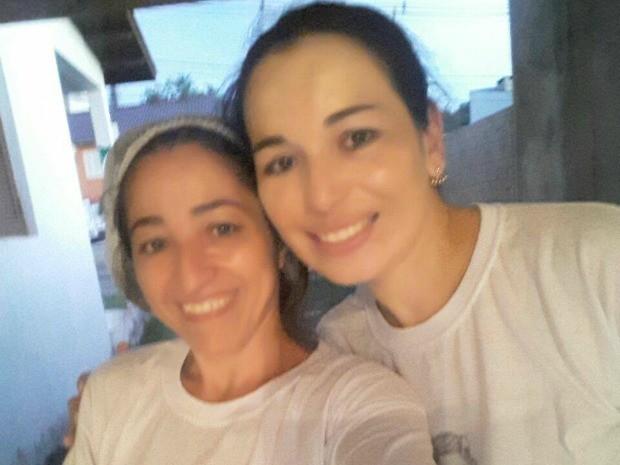 Lori, que morreu em acidente, e Cleusa: amigas há 10 anos (Foto: Cleusa Oliveira/Arquivo pessoal)