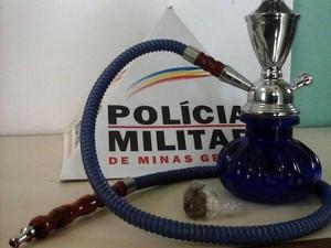 narguilé maconha Igaratinga droga MG (Foto: Polícia Militar/Divulgação)