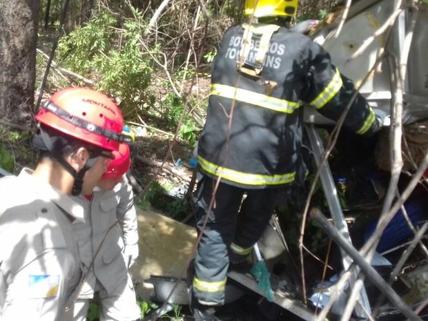 Acidente foi registrado próximo de Alvorada do Tocantins, sul do estado (Foto: Heitor Moreira/TV Anhanguera)