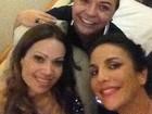 Depois de prêmio, Ivete Sangalo viaja para Salvador com Solange Almeida