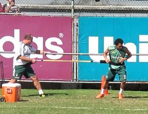 Wellington Nem no treino do Fluminense (Foto: Rafael Cavalieri / Globoesporte.com)