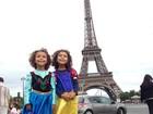 Filhas de Ronaldo posam de princesas na Eurodisney