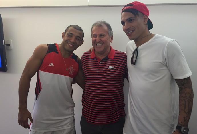 Guerrero, Zico e José Aldo (Foto: Cadu Machado/Master Sports & Mkt)