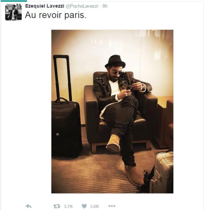 BLOG: Au revoir, Paris! Lavezzi se despede da França e embarca para jogar na China