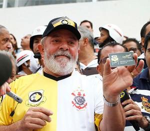 lula no  jogo corinthians (Foto: Gustavo Tilio/Globoesporte.com)