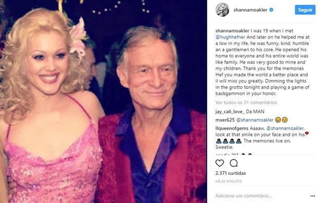 Shanna Moakler lamenta morte de Hugh Hefner (Foto: Reprodução/Instagram)