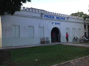 Batalhão PM Tarauacá (Foto: Duaine Rodrigues/G1)