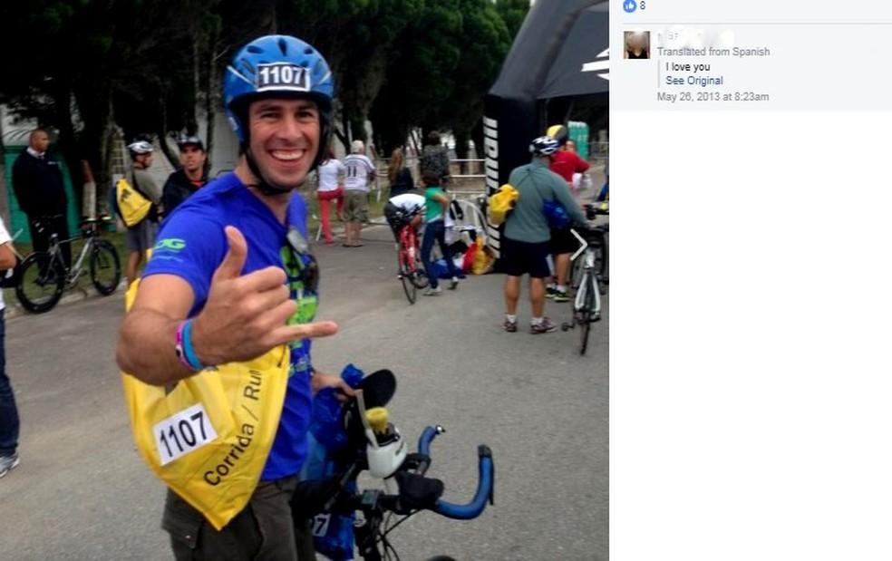 Diogo Faria participava de campeonatos de ciclismo (Foto: Reprodução/Facebook)