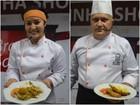 Dois cozinheiros iniciam o concurso de melhor chef de cozinha do Amapá