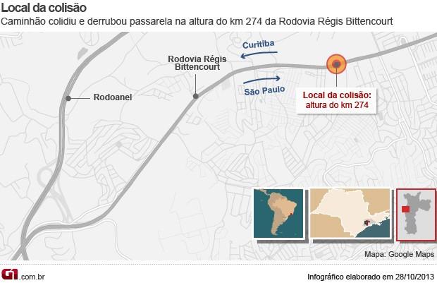 Mapa Régis Bittencourt (Foto: Arte/G1)