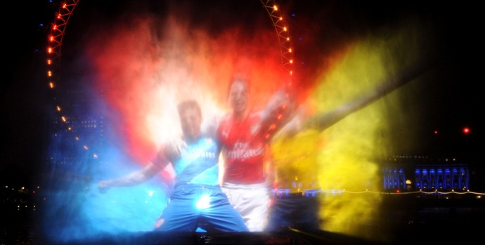 Festa Lançamento Camisa Arsenal Temporada 2014-15 (Foto: Getty Images )