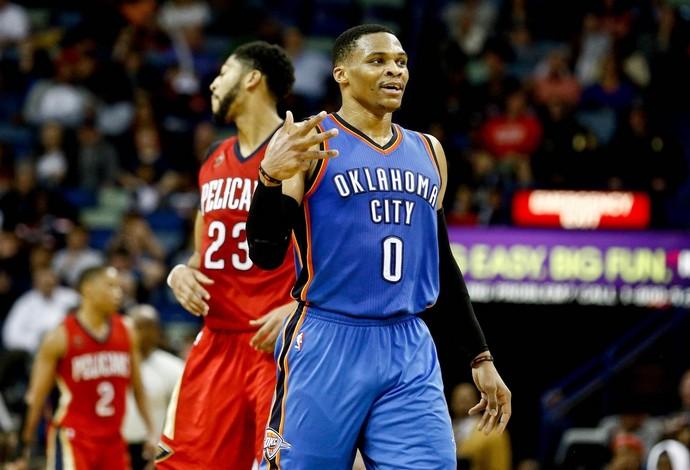 Oklahoma City Thunder X Pelicans (Foto: Reprodução/twitter)