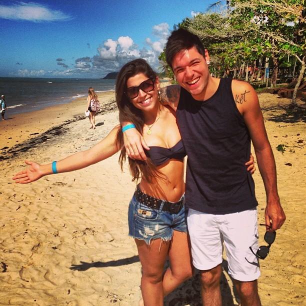 Ex-BBBs Andressa e Nasser em Arraial D'ajuda, na Bahia (Foto: Instagram/ Reprodução)