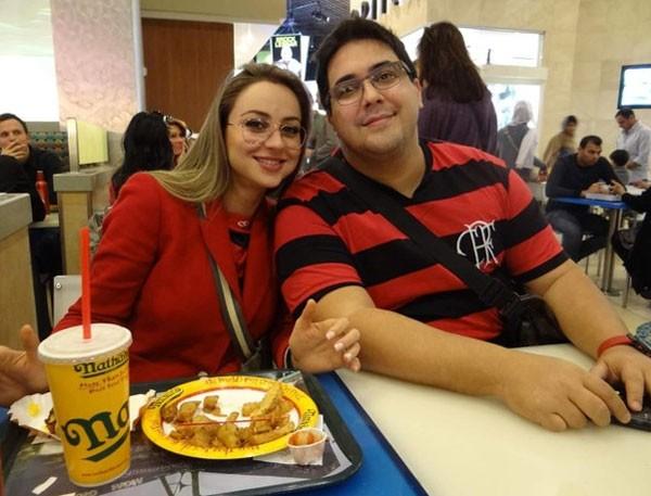 Manuella Vieira e André Marques (Foto: Reprodução)