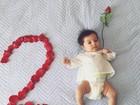 Carol Ramiro, mulher de Jesus Luz, celebra 'mêsversário' da filha