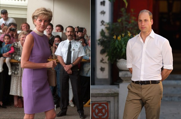 Princesa Diana e Príncipe William (Foto: Getty Images)