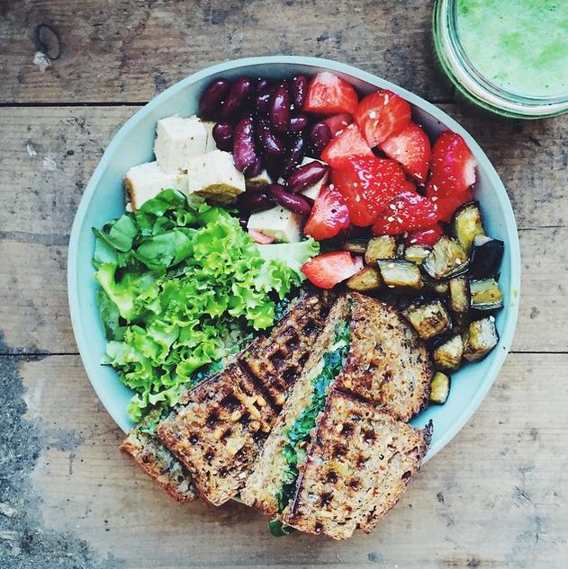 Prato perfeito: proteína, verduras, legumes e carboidratos de qualidade (Foto: Instagram @gkstories/Reprodução)