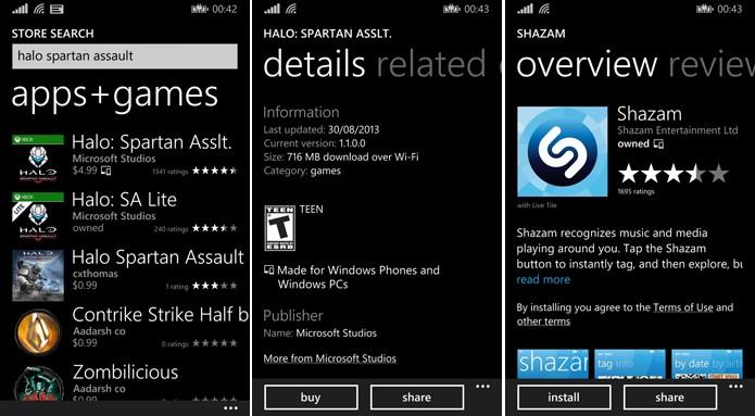 Loja do Windows Phone agora mostra quando o aplicativo também está disponível para Windows 8.1 (Foto: Reprodução/Elson)