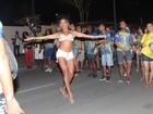Ana Paula Evangelista mostra corpo sarado em ensaio da Unidos da Tijuca