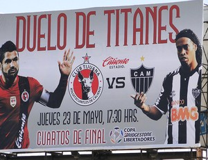 outdoor Tijuana jogo Atlético-MG (Foto: Leonardo Simonini)
