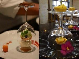 Taças também são utilizadas para compor a apresentação (Foto: Divulgação / Barão Gastronomia)