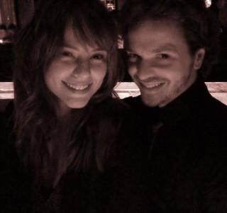 Paola Oliveira e o cabeleireiro Tiago Parente (Foto: Arquivo pessoal)