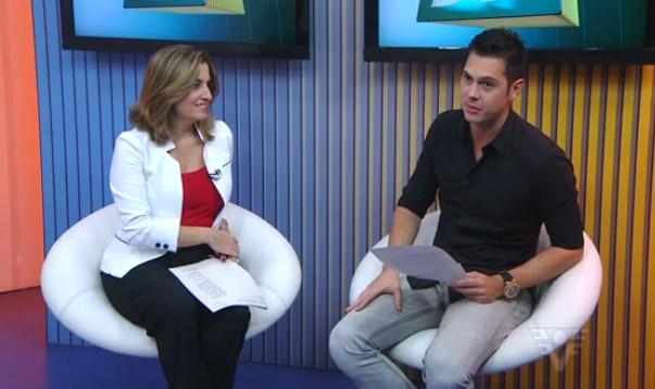 Melissa Paiva e Renato Cury (Foto: Reprodução/TV Tribuna)