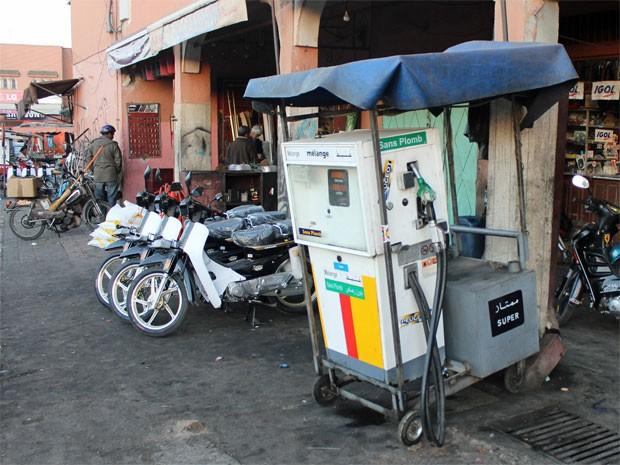 Posto de gasolina Marrakech 2 (Foto: Dennis Barbosa/G1)