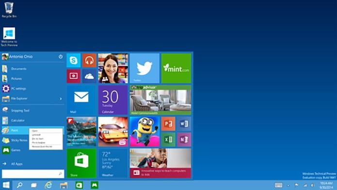 Apps, programas e pastas podem ser fixados na barra inferior ou no Iniciar (Foto: Divulgação)