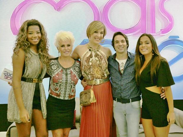 Ana Maria recebe Ludmilla, Anitta, Claudia Raia e Conrado Caputo nos estúdios do Mais Você (Foto: Ellen Soares/ Gshow)