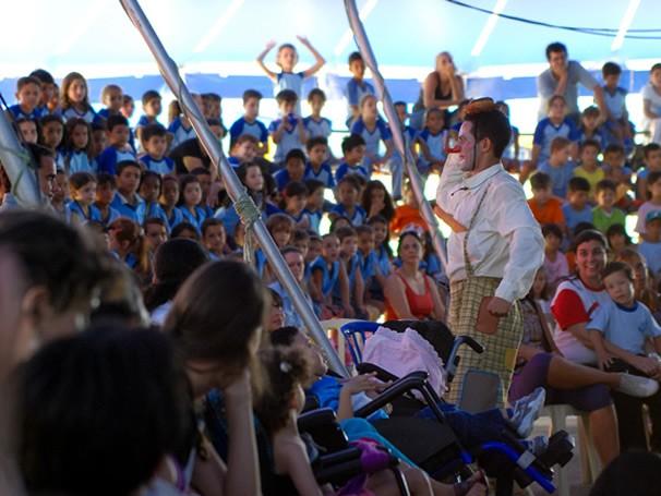 Apresentação de alunos no Circo Laheto, em Goiânia (Foto: Divulgação/Layza Vasconcelos)