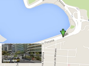 Veja p local dos desvios na Lagoa (Foto: Reprodução/Google Maps)