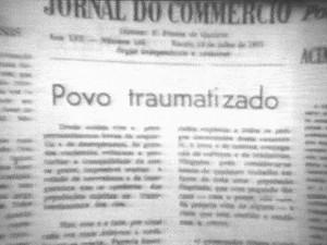 Inundação da capital foi destacada pela imprensa. Segundo dados da época, todos os serviços pararam e 107 pessoas morreram (Foto: Fernando Oliveira/Acervo pessoal)