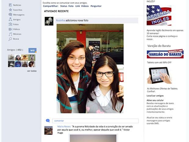 Photobomb de Jonas Marra em rede social (Foto: Fato na Rede)