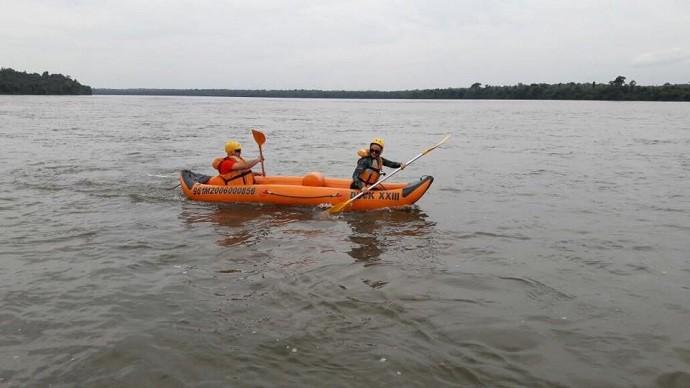 O programa encarou aventuras no Parque Nacional do Iguaçu (Foto: Divulgação/RPC)