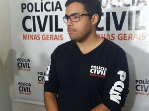 Delegado de Homicídios de Uberlândia Vitor Dantas (Foto: Caroline Aleixo/G1)