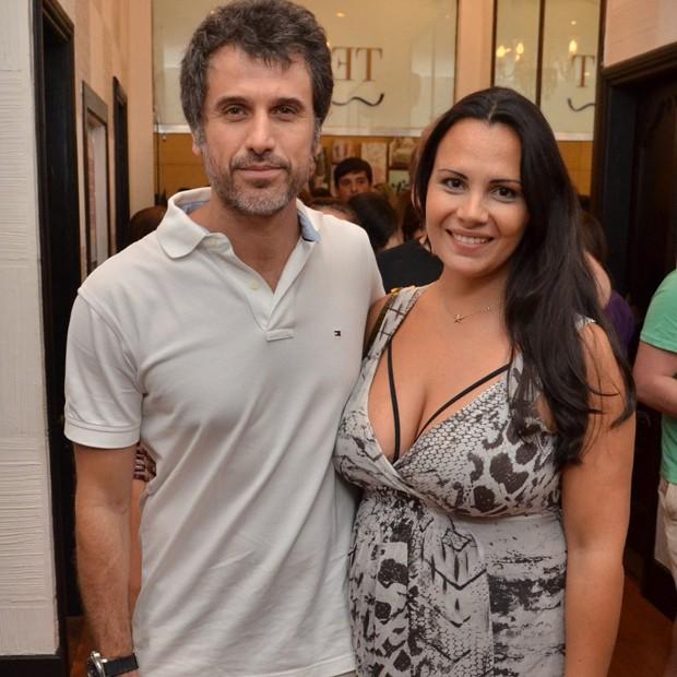 Eriberto Leão e a mulher, Andréa Leal (Foto: AgNews)