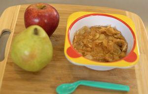 Papinha de maçã e pera