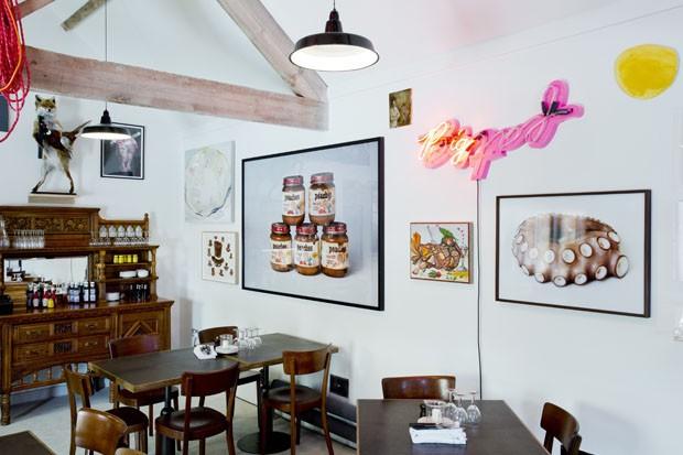 Obras de arte invadem restaurante inglês  (Foto: Divulgação)