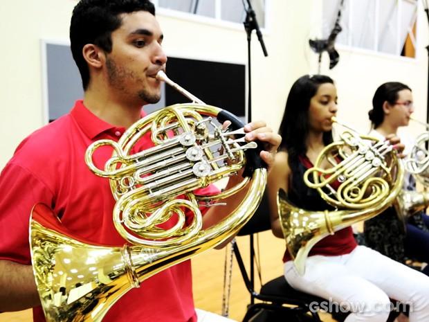 Orquestra Sinfônica de Heliópolis é formada sobretudo por jovens (Foto: Meu Pedacinho de Chão/TV Globo)
