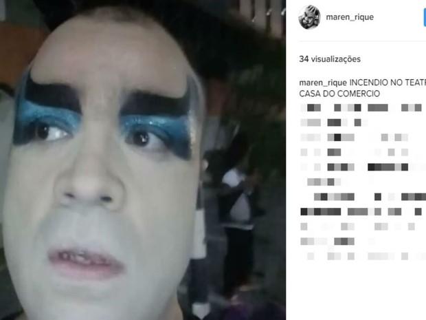 Ator da peça A Bofetada falou sobre cancelamento do espetáculo deste sábado (18) (Foto: Reprodução / Instagram)