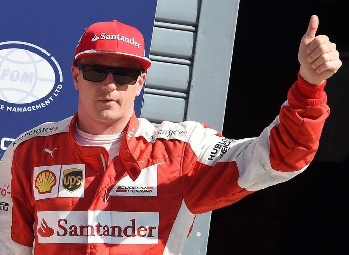 Kimi Raikkonen após treino classificatório para o GP da Itália (Foto: EFE)