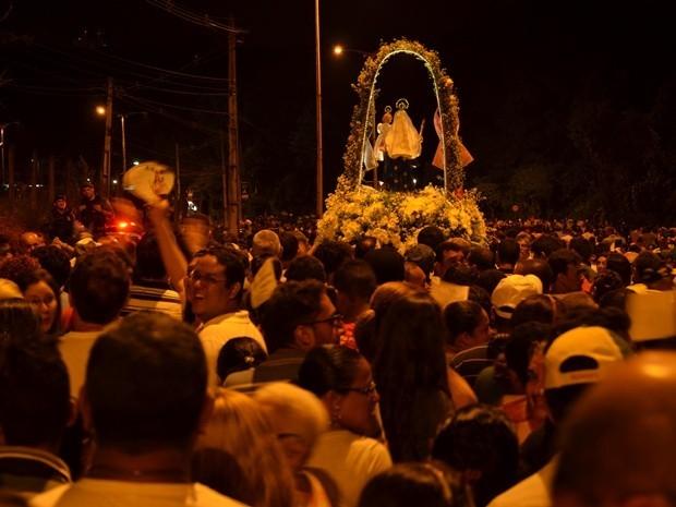 Romaria da Penha reunindo fiéis na capital paraibana. (Foto: Juliana Santos/Secom-JP)