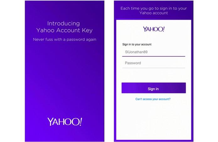 Usuário registra senha uma vez no app do Yahoo Mail (Foto: Divulgação/Yahoo)